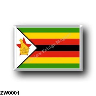 ZW0001 Africa - Zimbabwe - Flag