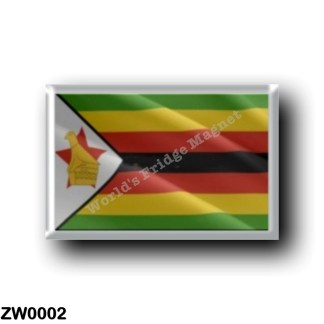 ZW0002 Africa - Zimbabwe - Flag Waving