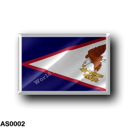 AS0002 Oceania - American Samoa - Flag Waving