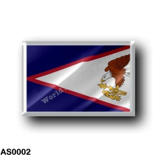 AS0002 Oceania - American Samoa - Flag Waving