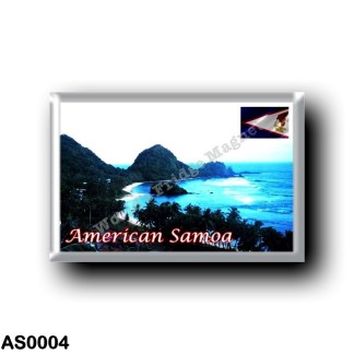 AS0004 Oceania - American Samoa - Coastline