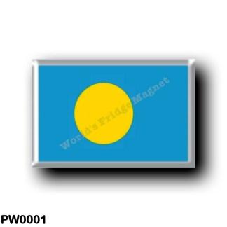 PW0001 Oceania - Palau - Flag