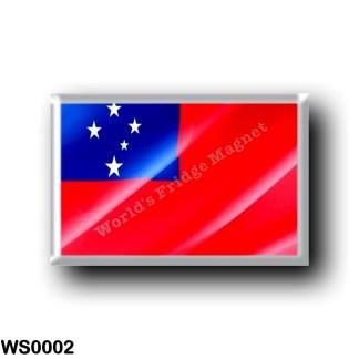 WS0002 Oceania - Samoa - Flag Waving