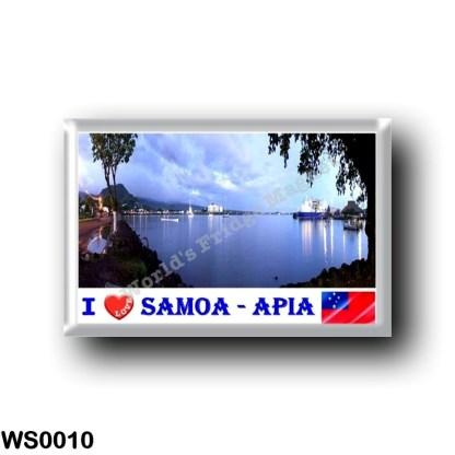 WS0010 Oceania - Samoa - Apia Harbour - I Love