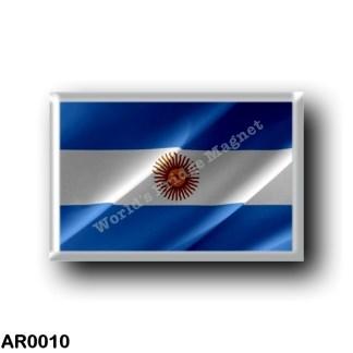 AR0010 America - Argentina - Flag Waving