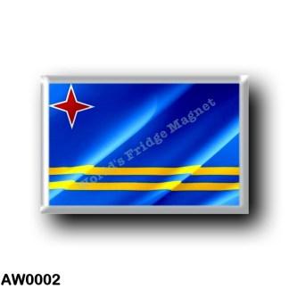 AW0002 America - Aruba - Flag Waving