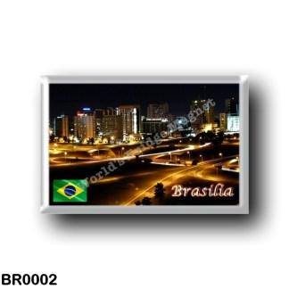 BR0002 America - Brazil - Brasília - by Night