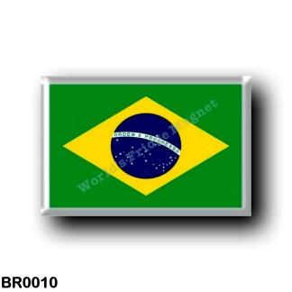 BR0010 America - Brazil - Brazílian Flag