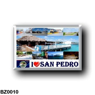 BZ0010 America - Belize - I Love San Pedro Town