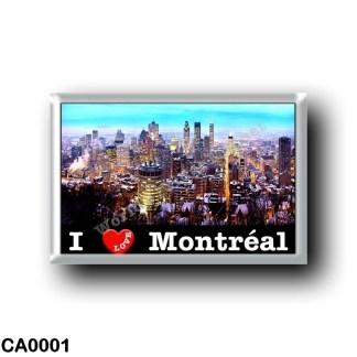 CA0001 America - Canada - Montréal - I Love