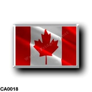 CA0018 America - Canada - Canadian waving flag