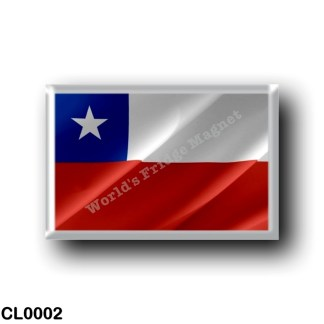 CL0002 America - Chile - Chilean waving flag