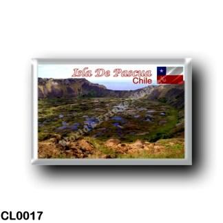 CL0017 America - Chile - Isla De Pascua - Rano Kau Vista de la Caldera Volcánica