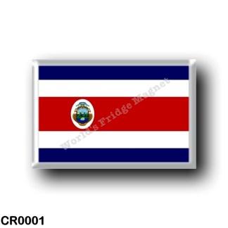 CR0001 America - Costa Rica - Costa Rican flag