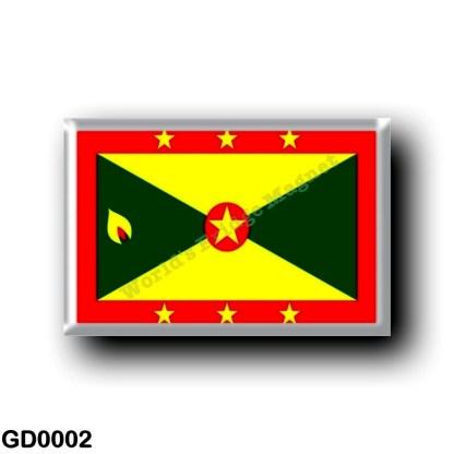 GD0002 America - Grenada - Flag
