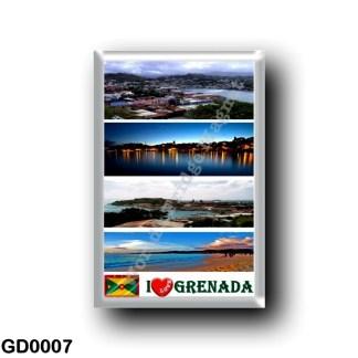 GD0007 America - Grenada - I Love