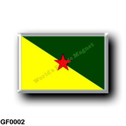 GF0002 America - French Guiana - Flag