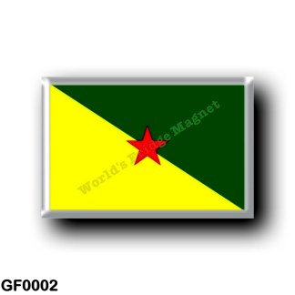 GF0002 America - French Guiana - Flag