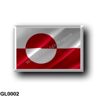 GL0002 America - Greenland - Flag Waving
