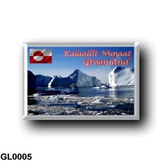 GL0005 America - Greenland - Panorama Icebergs