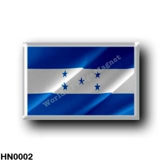 HN0002 America - Honduras - Honduregna flag - waving
