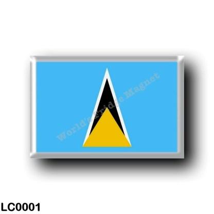 LC0001 America - Saint Lucia - Flag