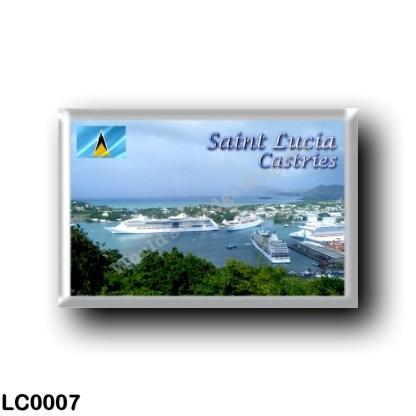 LC0007 America - Saint Lucia - Castries Harbor