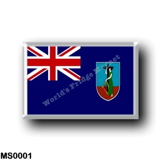 MS0001 America - Montserrat - Flag