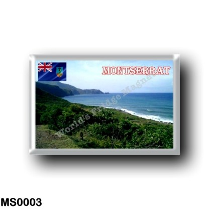 MS0003 America - Montserrat - Coastline