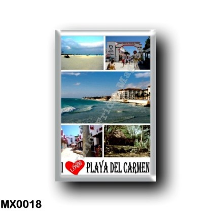 MX0018 America - Mexico - Playa Del Carmen - I Love