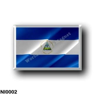 NI0002 America - Nicaragua - Nicaraguan flag - waving