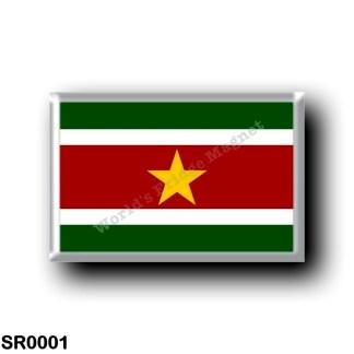 SR0001 America - Suriname - Flag