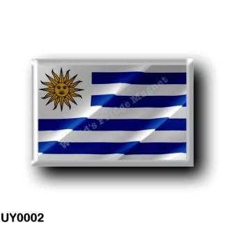 UY0002 America - Uruguay - Uruguayan Flag - Waving