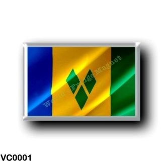 VC0001 America - Saint Vincent and the Grenadines - Flag Waving
