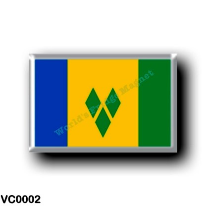 VC0002 America - Saint Vincent and the Grenadines - Flag