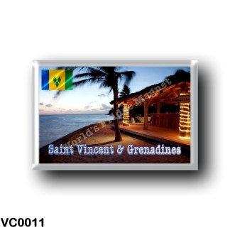 VC0011 America - Saint Vincent and the Grenadines - Beach Bar at Petit Saint Vincent Island