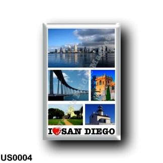 US0004 America - United States - San Diego - I Love