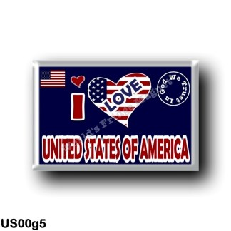 US00g5 America - United States - I Love