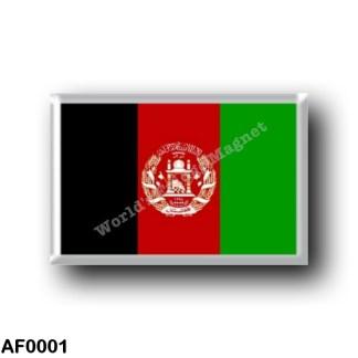 AF0001 Asia - Afghanistan - Afghan flag