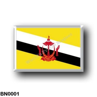 BN0001 Asia - Brunei - Flag