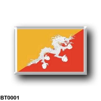 BT0001 Asia - Bhutan - Flag