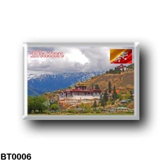BT0006 Asia - Bhutan - The Dzong in the Paro valley