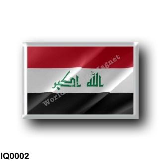 IQ0002 Asia - Iraq - Iraqi flag - waving