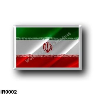IR0002 Asia - Iran - Iranian flag - waving