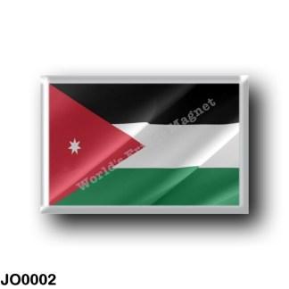 JO0002 Asia - Jordan - Jordan flag - waving