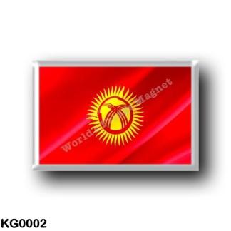 KG0002 Asia - Kyrgyzstan - Flag Waving