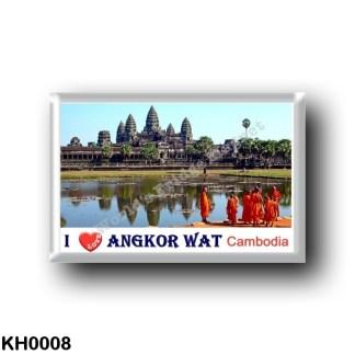 KH0008 Asia - Cambodia - Angkor Wat - Buddhist monks - I Love