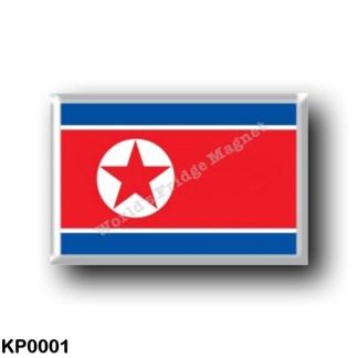 KP0001 Asia - North Korea - Flag