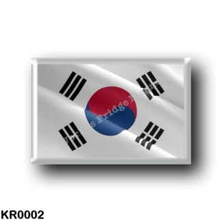 KR0002 Asia - South Korea - Flag Waving