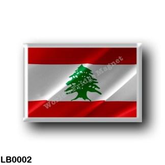 LB0002 Asia - Lebanon - Flag Waving